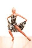 Portret van een jonge vrouw in dans stock fotografie