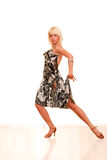 Portret van een jonge vrouw in dans royalty-vrije stock foto's