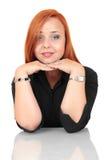 Portret van een jonge vrouw die ontspannen kijken Royalty-vrije Stock Foto's