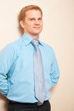 Portret van een jonge zakenman stock foto's