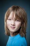 Portret van een Jongen met Blond Haar stock afbeelding