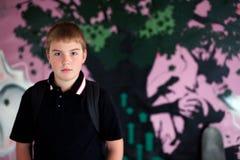 Portret van een Jongen met skateboard Royalty-vrije Stock Foto