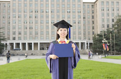 Portret van een juffrouwgediplomeerde Royalty-vrije Stock Afbeelding