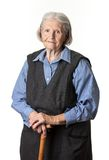 Portret van een kalme hogere vrouw Stock Foto
