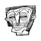 Portret van een karakter met rimpels op zijn gezicht Kan voor tijdschriften, affiches, banners worden gebruikt, vector illustratie