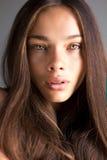 Portret van een Kaukasische jonge donkerbruine vrouw Royalty-vrije Stock Foto
