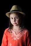 Portret van een kind in een hoed stock foto