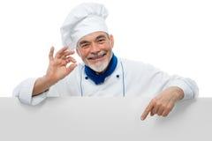 Portret van een knappe chef-kok royalty-vrije stock afbeeldingen