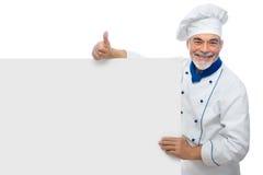 Portret van een knappe chef-kok Stock Afbeeldingen