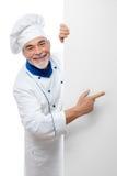 Portret van een knappe chef-kok stock fotografie