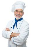 Portret van een knappe chef-kok stock foto