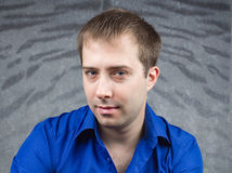 Portret van een knappe jonge mens Stock Fotografie
