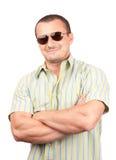 Portret van een knappe mens Stock Fotografie