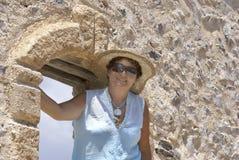 Portret van een knappe rijpe vrouw Stock Afbeelding