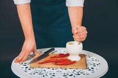 Portret van een kok Stock Afbeeldingen