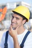 Portret van een Latijnse bouwvakker Royalty-vrije Stock Fotografie