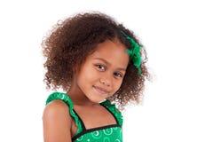 Leuk jong Afrikaans Aziatisch meisje Stock Foto's