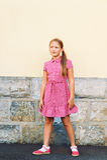Portret van een leuk meisje royalty-vrije stock fotografie