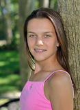 Portret van een leuk vrouwelijk kind Stock Foto's