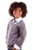 Portret van een leuke Afrikaanse Amerikaan weinig jongen Royalty-vrije Stock Afbeelding