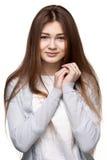 Portret van een leuke glimlachende tiener royalty-vrije stock afbeelding