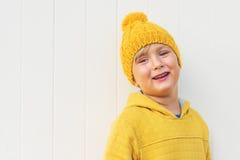 Portret van een leuke kleine jongen Stock Afbeelding