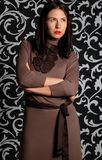 Portret van een leuke vrolijke midden oude brunette Royalty-vrije Stock Fotografie
