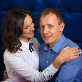 Portret van een man en een vrouw, het houdende van paar van A Stock Foto's