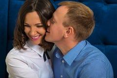Portret van een man en een vrouw, het houdende van paar van A Stock Fotografie