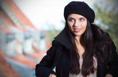 Portret van een maniervrouw, Stock Foto's