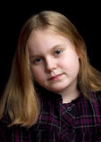 Portret van een meisje Stock Foto