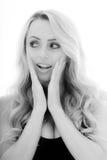 Portret van een Meisje die Geschokt en Verrast kijken royalty-vrije stock afbeelding