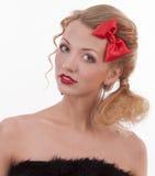 Portret van een meisje in het beeld van de pop Royalty-vrije Stock Foto's