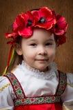 Portret van een meisje, in het Russische nationale kostuum royalty-vrije stock fotografie