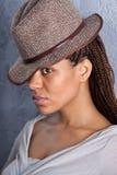 Meisje in hoed stock afbeeldingen