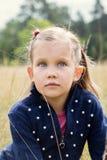 Portret van een meisje met blauwe ogen royalty-vrije stock fotografie