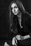 Portret van een meisje met droevige ogen Royalty-vrije Stock Foto