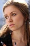 Portret van een meisje met groene ogen Royalty-vrije Stock Fotografie