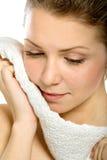 Portret van een meisje met handdoek Stock Afbeelding