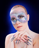 Portret van een meisje met make-up royalty-vrije stock fotografie
