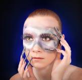 Portret van een meisje met make-up stock foto