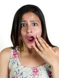 Portret van een meisje met verraste uitdrukking Royalty-vrije Stock Afbeelding