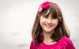 Portret van een meisje in rood Royalty-vrije Stock Afbeelding
