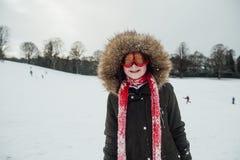 Portret van een Meisje in Ski Goggles royalty-vrije stock fotografie