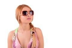 Portret van een meisje in zonnebril Royalty-vrije Stock Afbeeldingen