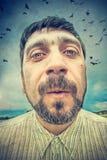 Portret van een mens Stock Afbeeldingen
