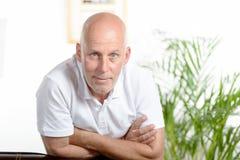Portret van een mens op middelbare leeftijd stock foto's