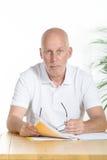 Portret van een mens op middelbare leeftijd stock fotografie