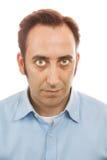 Portret van een mens op witte achtergrond Royalty-vrije Stock Fotografie