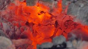 Portret van een mens in een vlam stock footage